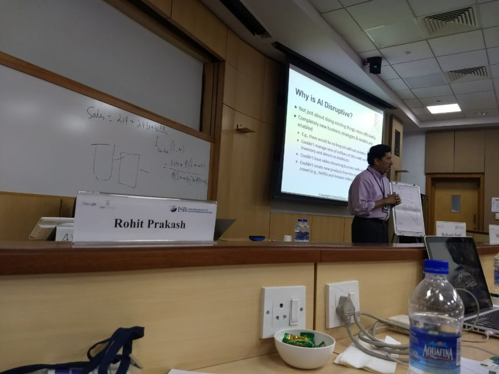 iDream Education at ISB Hyd for Executive Prog on Analytics and AI